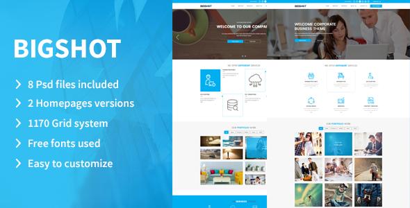 BigShot –  Creative PSD Template