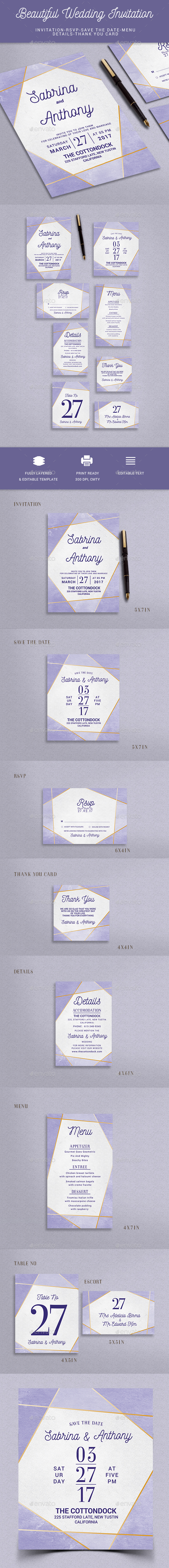 Modern Wedding Invitation - Weddings Cards & Invites
