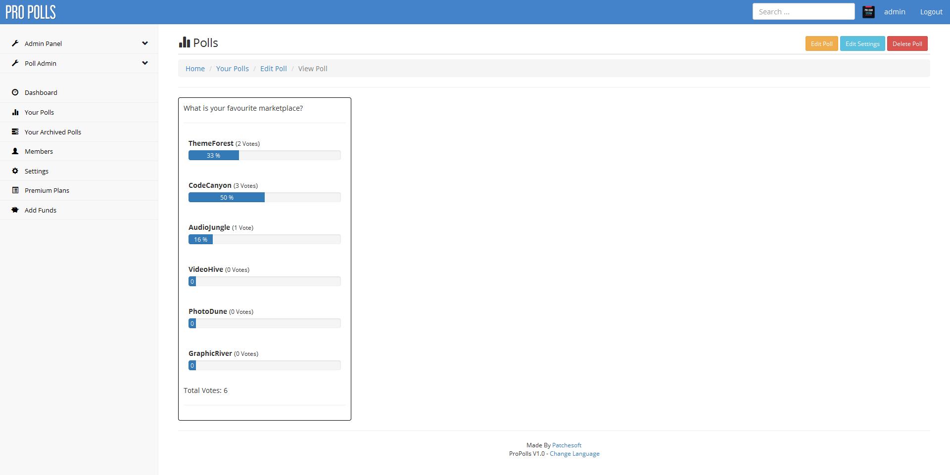 Pro Polls - PHP Poll Vote Script