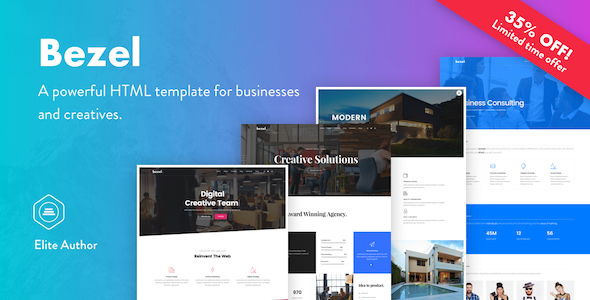 Bezel – Creative Multi-Purpose HTML Template