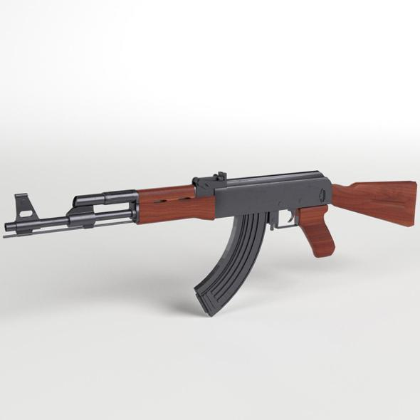 AK-47 Kalashnikov Assault Rifle - 3DOcean Item for Sale