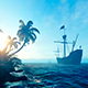Ship Sailing Near Desert Island - VideoHive Item for Sale