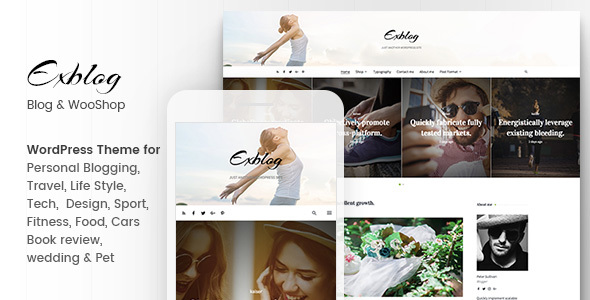 Exblog - Multipurpose Clean WordPress Blog Theme - Blog / Magazine WordPress