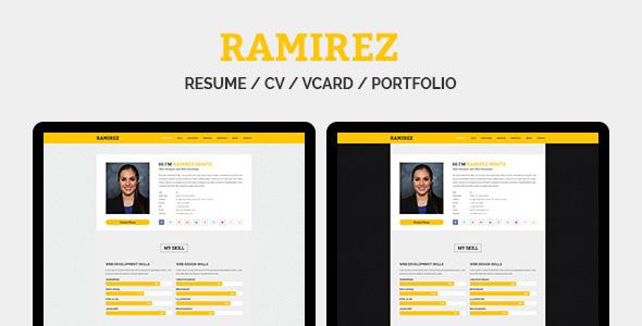 RAMIREZ - Resume / CV / vCard / Portfolio - Resume / CV Specialty Pages