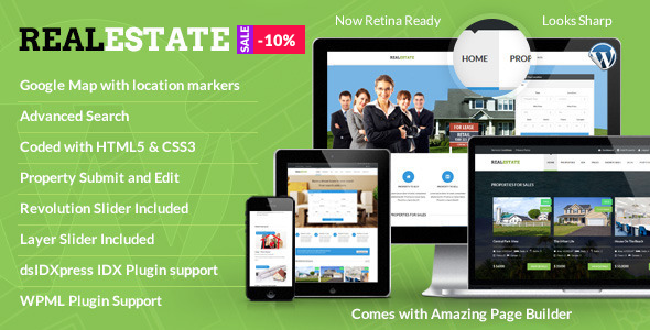 Real Estate - Responsive Real Estate Theme - Real Estate WordPress