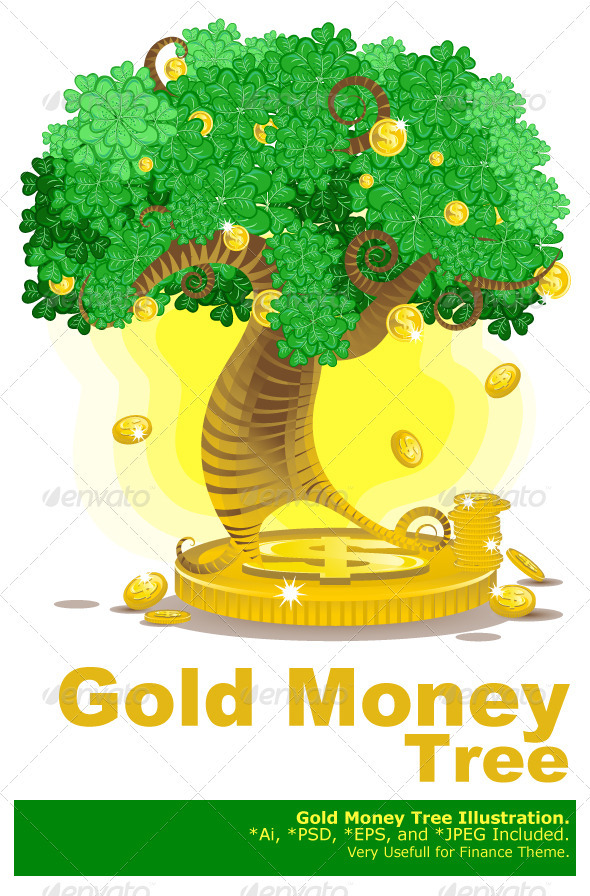 gold money tree - Concepts Business