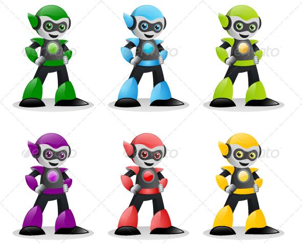 Robot Characters - Characters Vectors