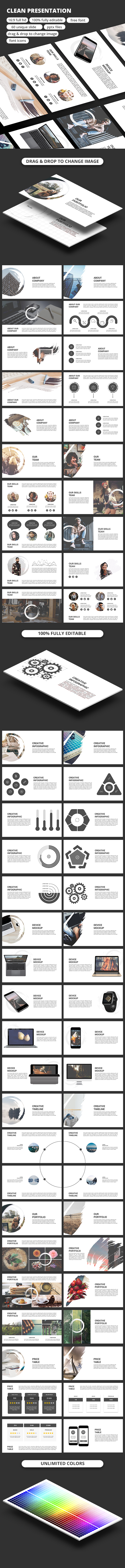 Clean PowerPoint Templates - Business PowerPoint Templates
