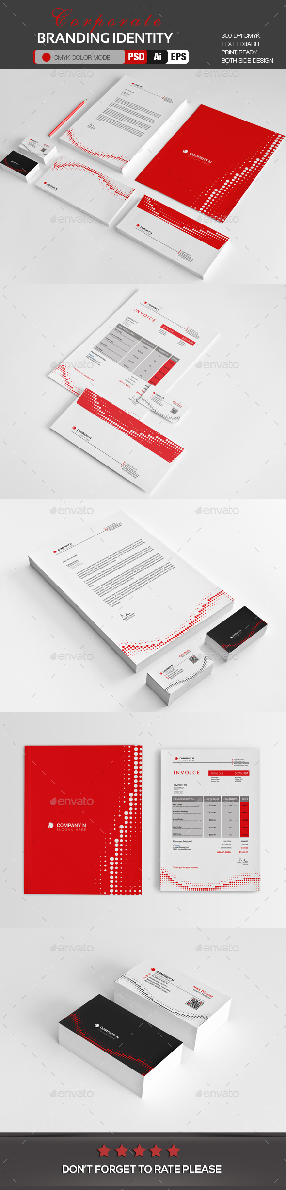 Corporate Branding Identity - Stationery Print Templates