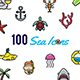 100 Sea Icons - GraphicRiver Item for Sale