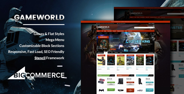 Gameworld - Game Store Responsive BigCommerce Theme - Stencil Framework - BigCommerce eCommerce