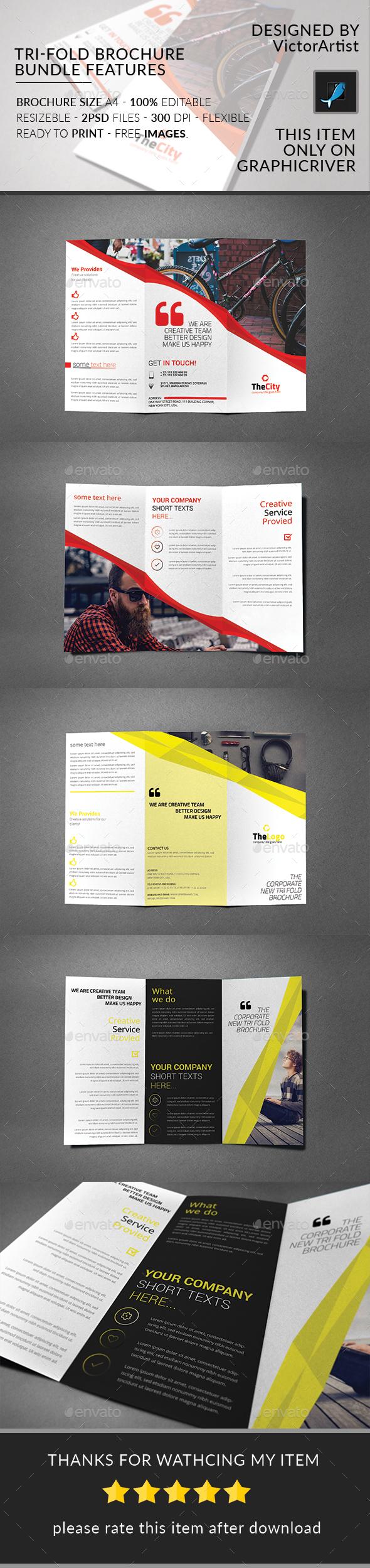 Tri-Fold Brochure Bundle - Brochures Print Templates