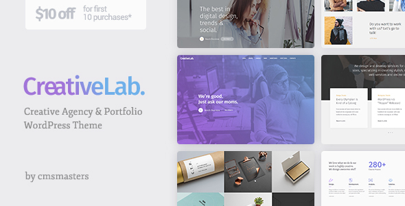 Creative Lab – Creative Studio Portfolio & Agency WordPress Theme