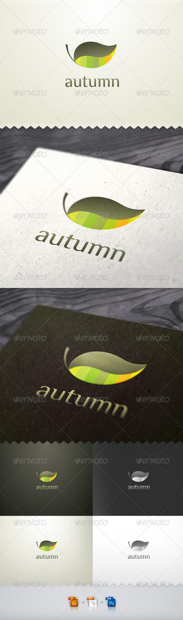 Autumn Leaf Nature Logo - Nature Logo Templates