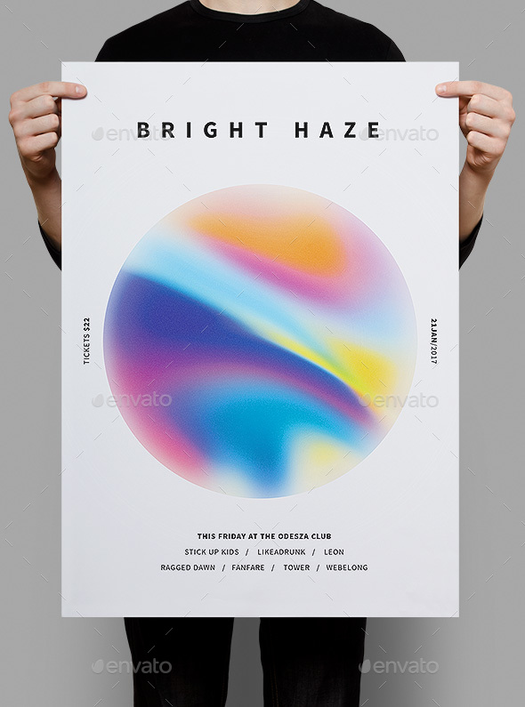 Bright Haze Poster & Flyer - Clubs & Parties Events