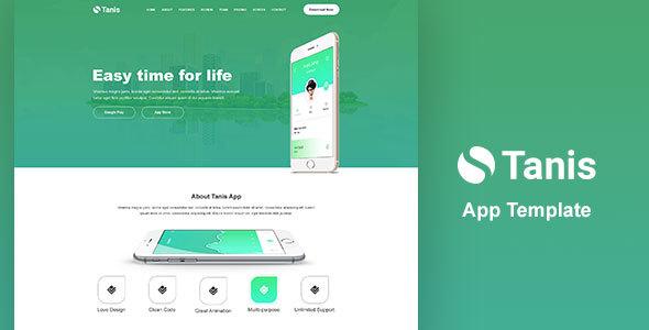Tanis App PSD Template - Creative PSD Templates