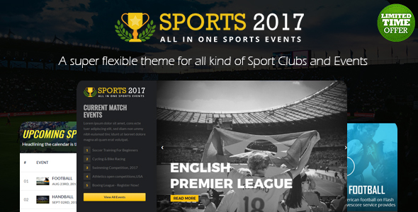 Real Sports Club: All In One Sports Template