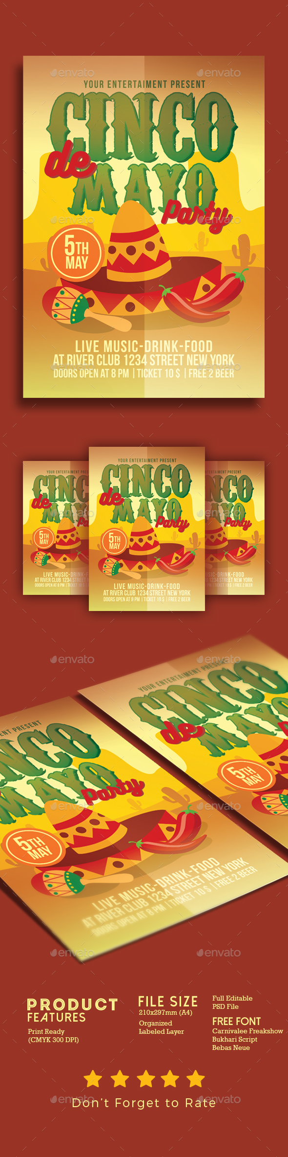 Cinco De Mayo Celebration - Events Flyers