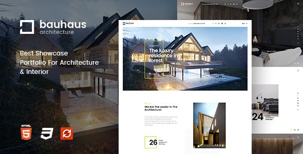 Bauhaus - Architecture & Interior Template - Business Corporate