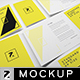 Standard Card Brochure A9 Mockup - GraphicRiver Item for Sale