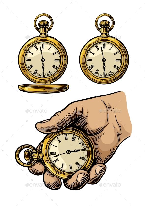 Antique Pocket Watch - Miscellaneous Vectors