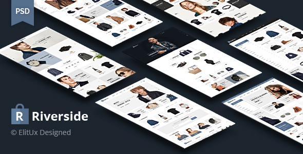 Riverside - Fashion Ecommerce PSD Template - Retail PSD Templates