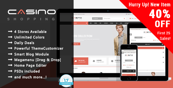 Casino – Shopping Responsive Prestashop 1.7 Theme