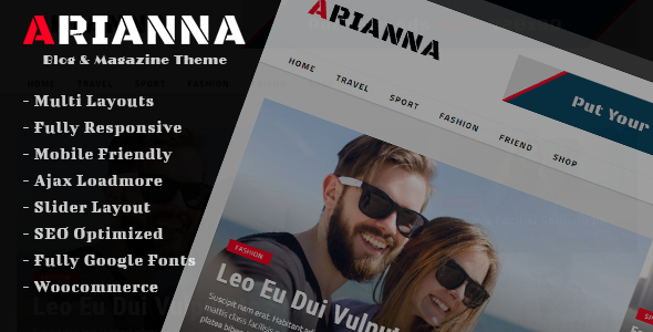 Arianna – Clean & Simple Blog/Magazine Theme