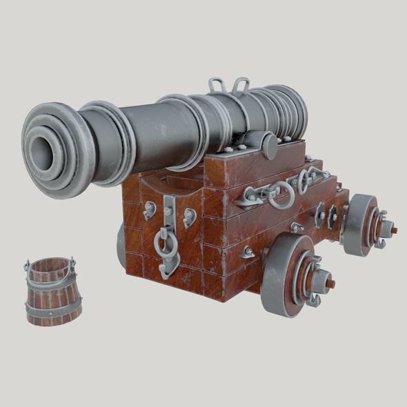 Vessel cannon Unicorn - 3DOcean Item for Sale