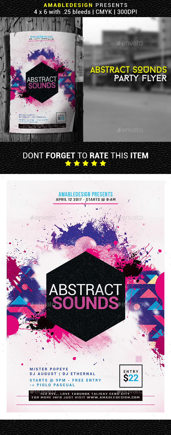 Abstract Sounds Flyer - Events Flyers