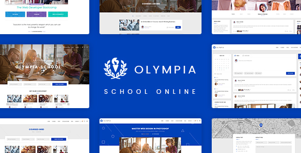 Olympia - School Online PSD Template - Retail PSD Templates