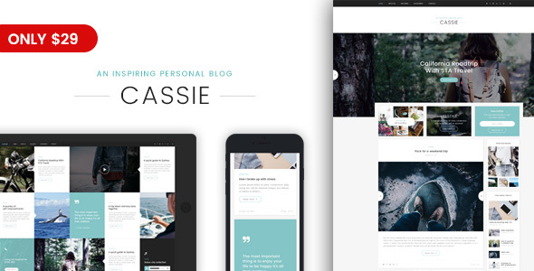 Cassie - An Inspiring Personal Blog WordPress Theme