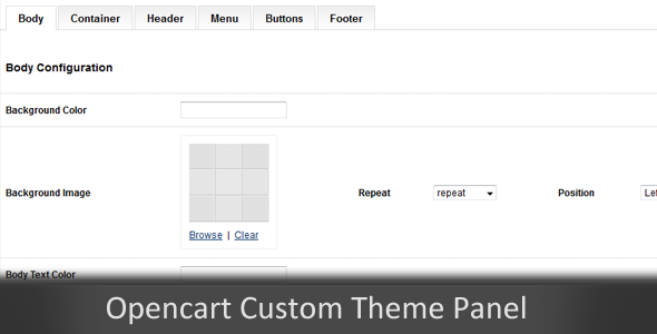 Custom Themes Panel Opencart Module - CodeCanyon Item for Sale