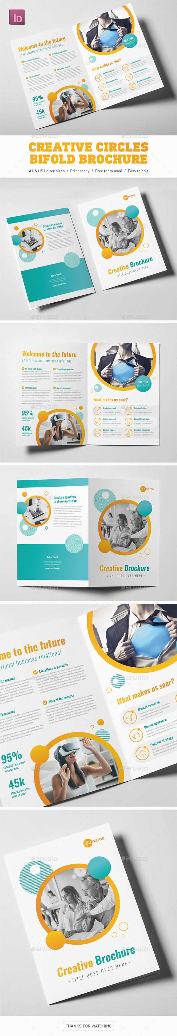 Creative Circles Bifold Brochure - Corporate Brochures