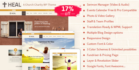 Heal NGO | Charity WordPress Theme - Churches Nonprofit