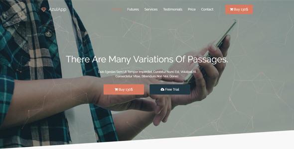 Azulapp – Creative WP Landing Page Theme
