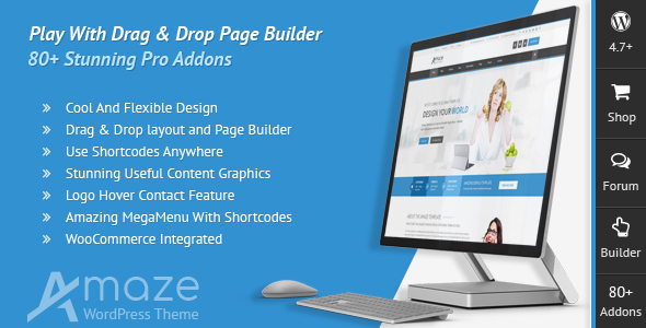 Amaze – Corporate Responsive Multi-Purpose WordPress Theme