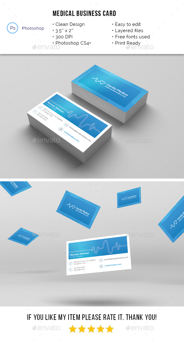 medical business card industry specific business cards - Medical Business Cards
