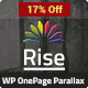 Rise | One page Parallax WordPress Theme - ThemeForest Item for Sale