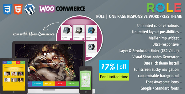 Role Portfolio | One Page Portfolio WordPress Theme - Creative WordPress
