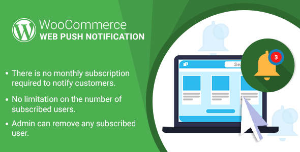 WordPress WooCommerce Web Push Notification Plugin - CodeCanyon Item for Sale