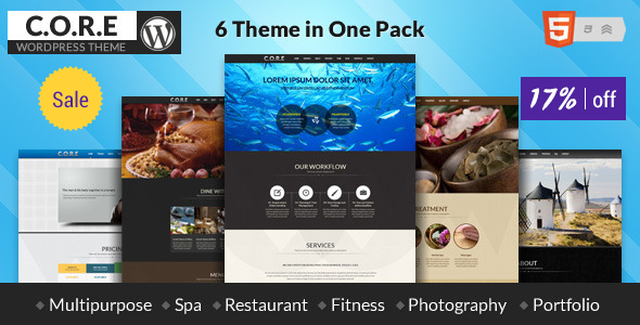 Core One - Multipurpose One Page Theme - Creative WordPress