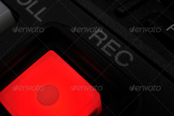 "Macro shot of the ""Record"" button - Stock Photo - Images"