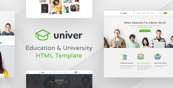 Univer - Multipurpose Education / University / College / School HTML Template