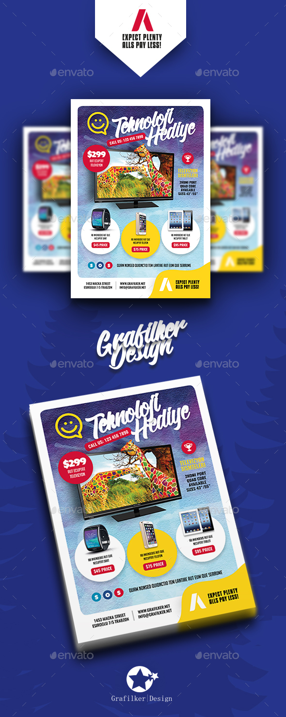 Technology Shop Flyer Templates - Corporate Flyers