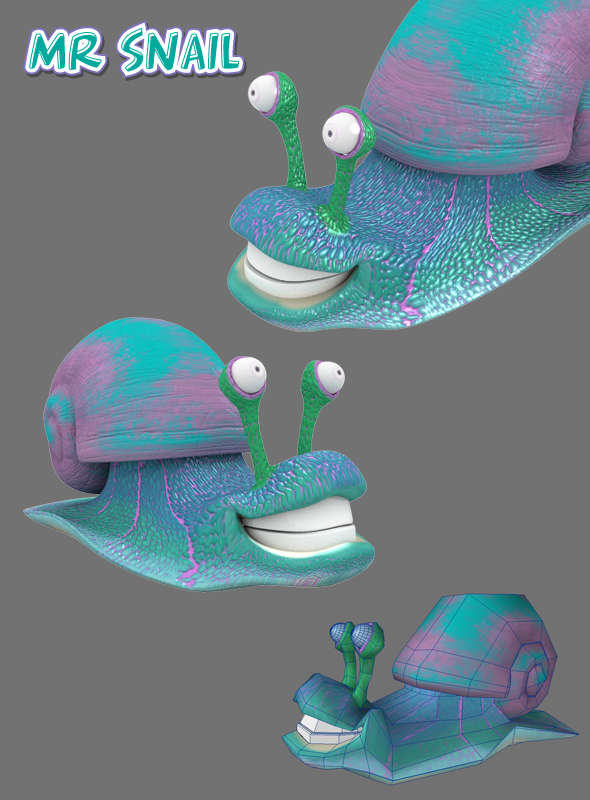 Cute Snail - 3DOcean Item for Sale