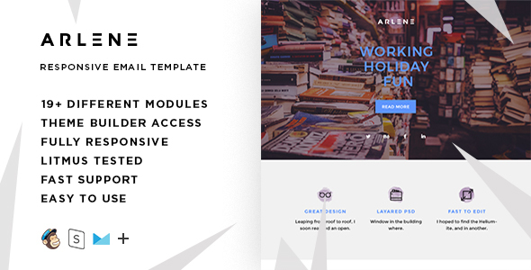 Arlene – Responsive Email + StampReady Builder - Email Templates Marketing