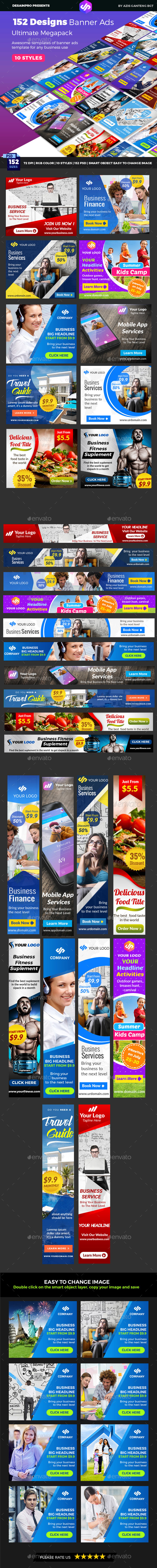 Banner Ads Ultimate Bundle - Banners & Ads Web Elements
