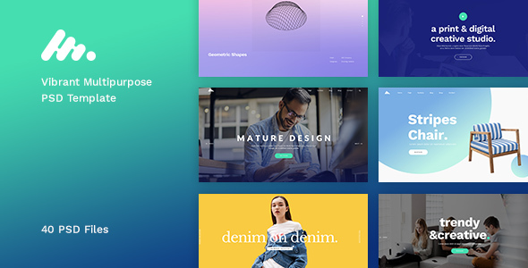 Moody – Vibrant Multipurpose PSD Template