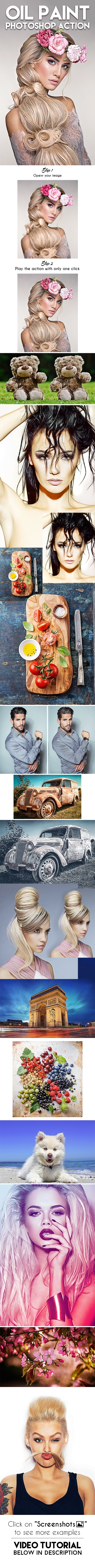 Oil Paint Photoshop Action - Photo Effects Actions